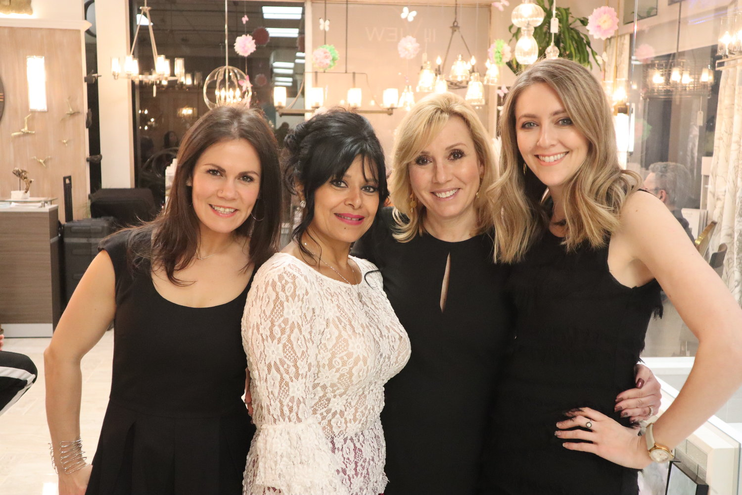 Seven years after being destroyed by Hurricane Sandy, the light still shines on Salcedo's home design company. The III View Design Team's Sarah Ann Morales, left, Salcedo, Randi Satnick and Genie Zeller are open for business in Bellmore.