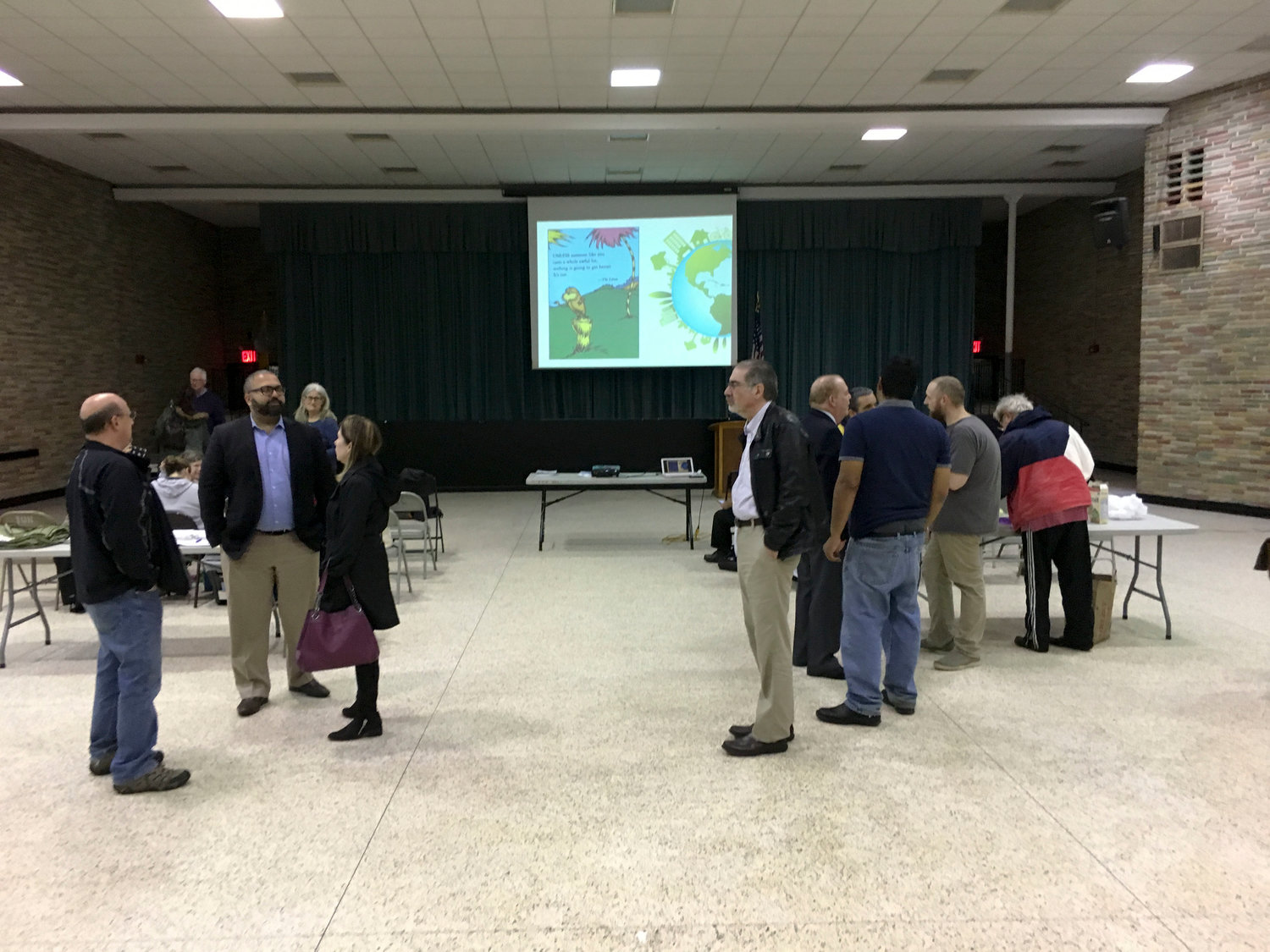 The Levittown, Seaford and Wantagh Democratic Club gathered at Levittown Hall in Hicksville for an Earth Day symposium on April 22.