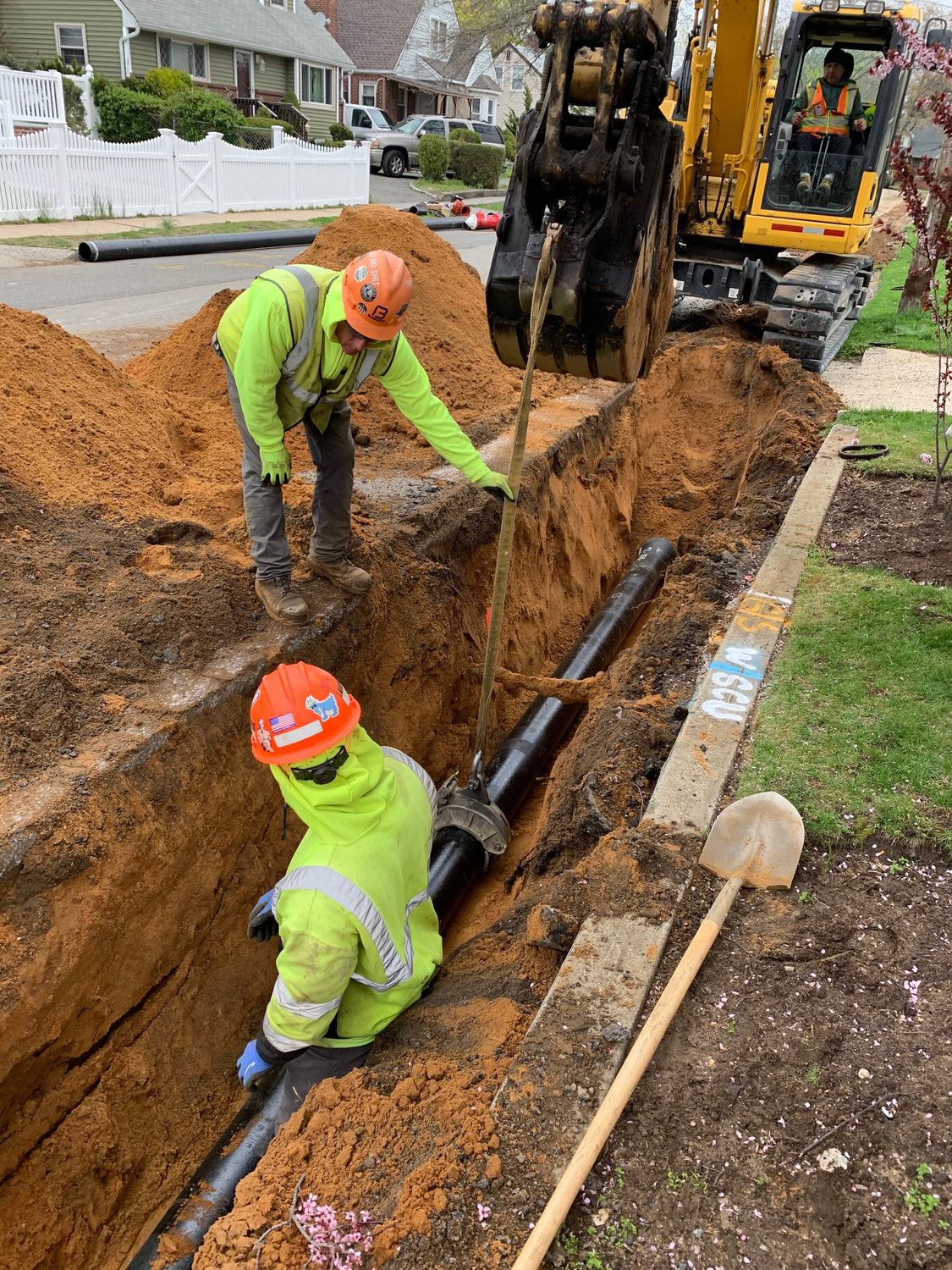 Crews started replacing water mains in Valley Stream on May 15.