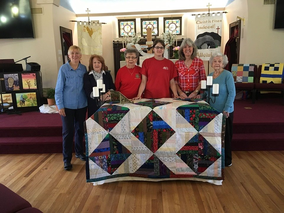 On May 5, Oceanside Lutheran Church hosted a blessing of the quilts event before shipping them to those in need around the world.
