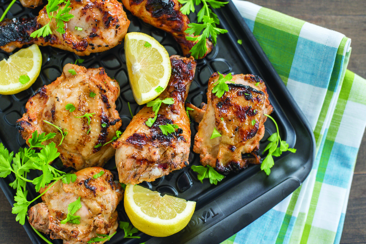 Zesty mustard, spicy Sriracha and rich buttermilk lend a marinated flavor upgrade to basic grilled chicken.