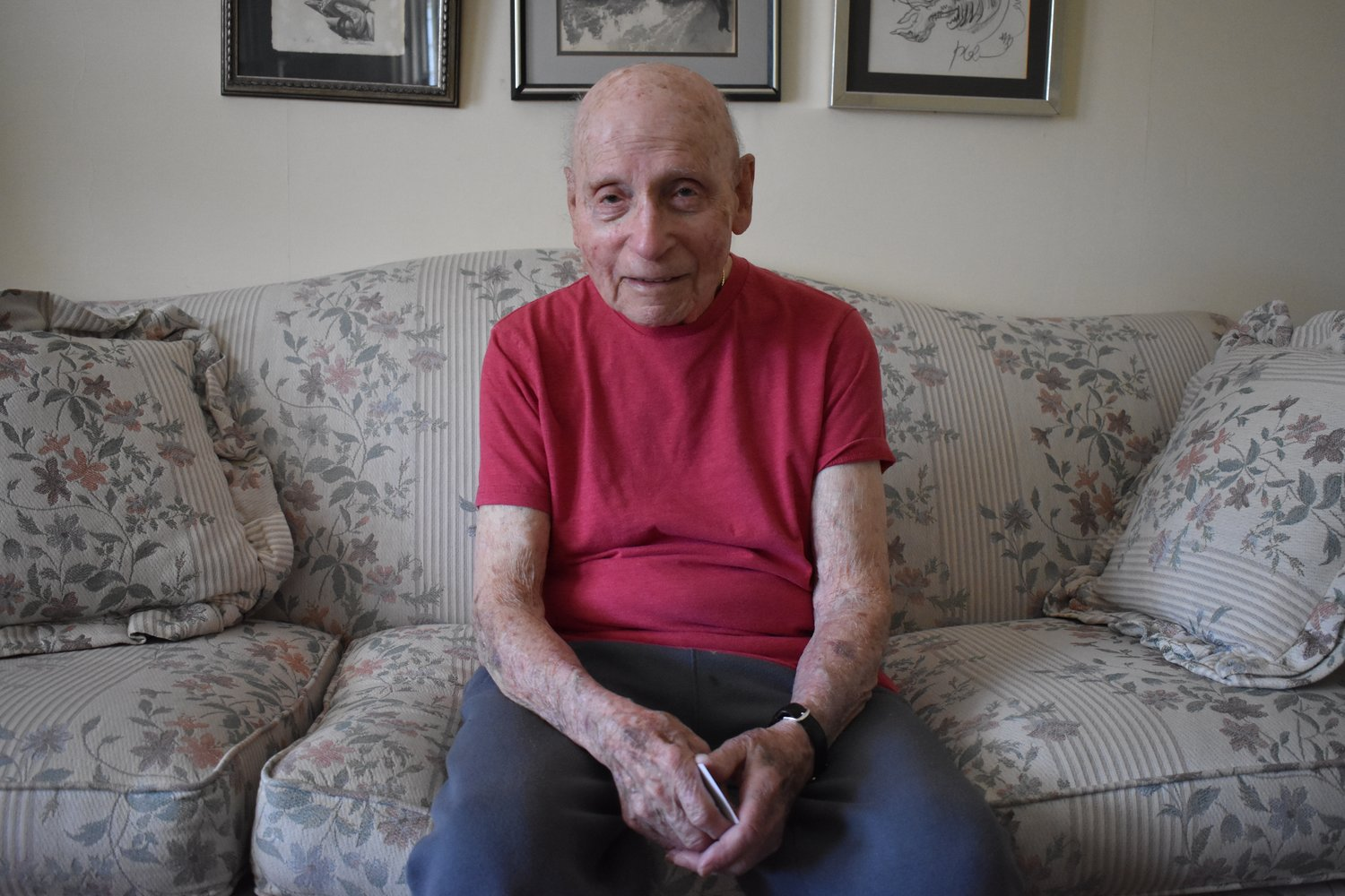 Rockville Centre resident Herbert Rosenberg, 97, served overseas in the U.S. Army Air Corps during World War II and spent more than a year as a prisoner of war.