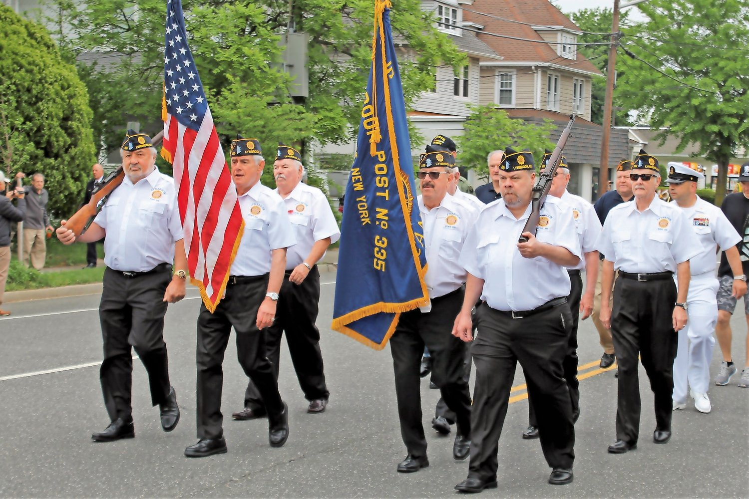 Lynbrook American Legion Post 335 members marched in the annual Memorial Day parade last year.