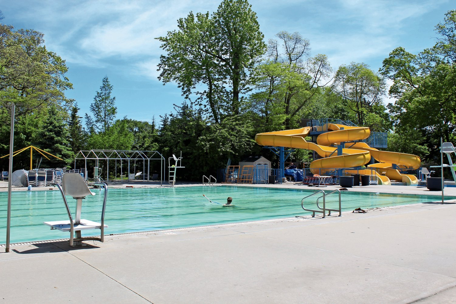 The Lynbrook village pool will open for Memorial Day weekend and then only for weekends until June 15, after which it will be accessible to members from 10 a.m. to 8 p.m. daily until Labor Day.