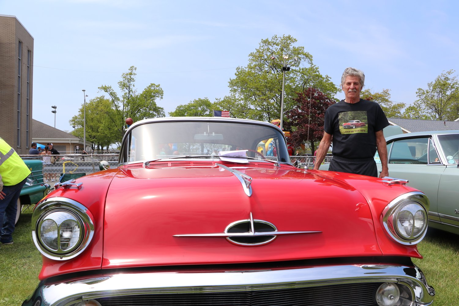 Ronald Holmes with his 1957 Oldsmobile Super 88.