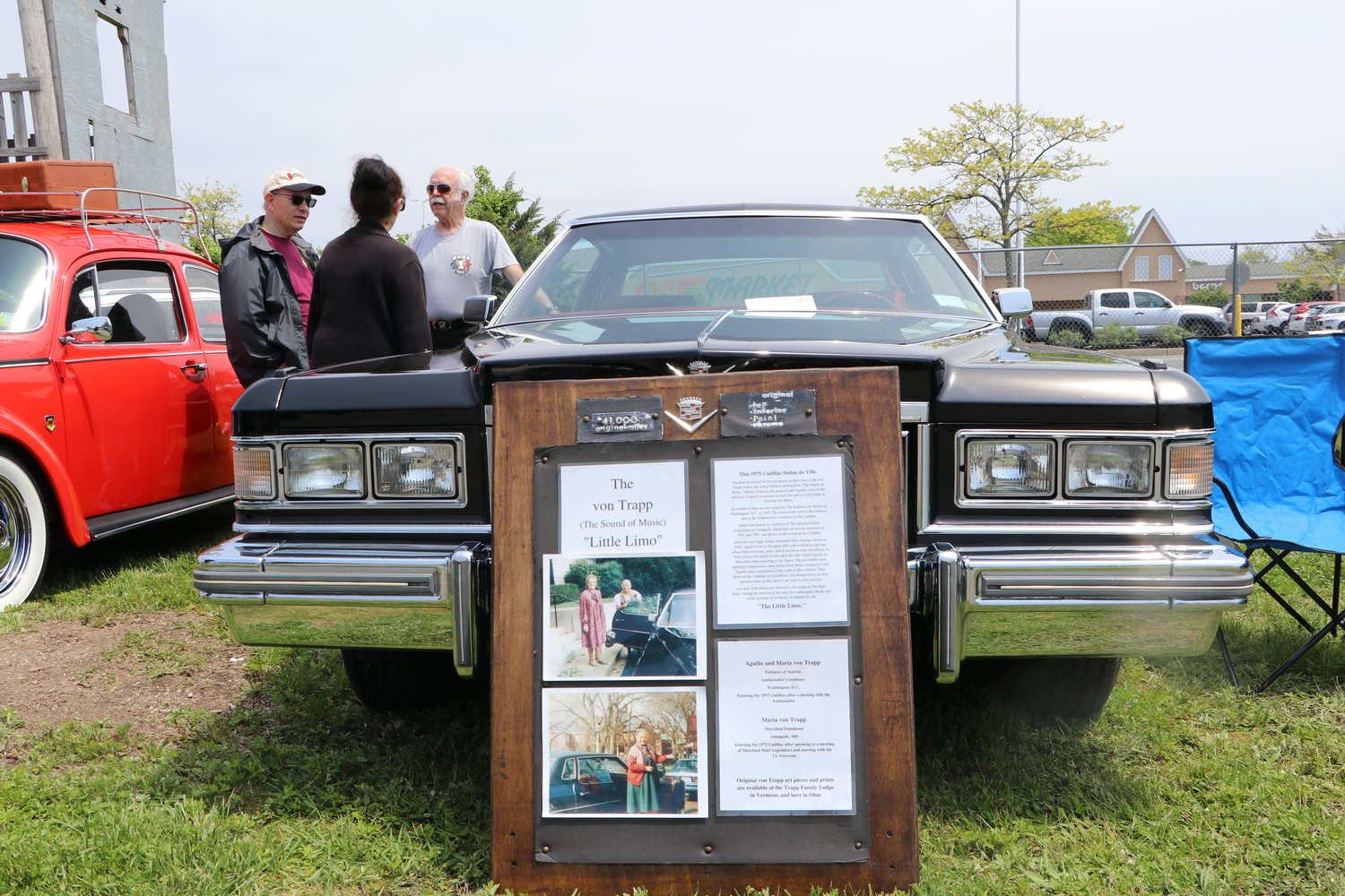 This 1975 Cadillac Sedan Deville, owned by Freeporter Charles Rowe, was used to transport two Von Trapp sisters.