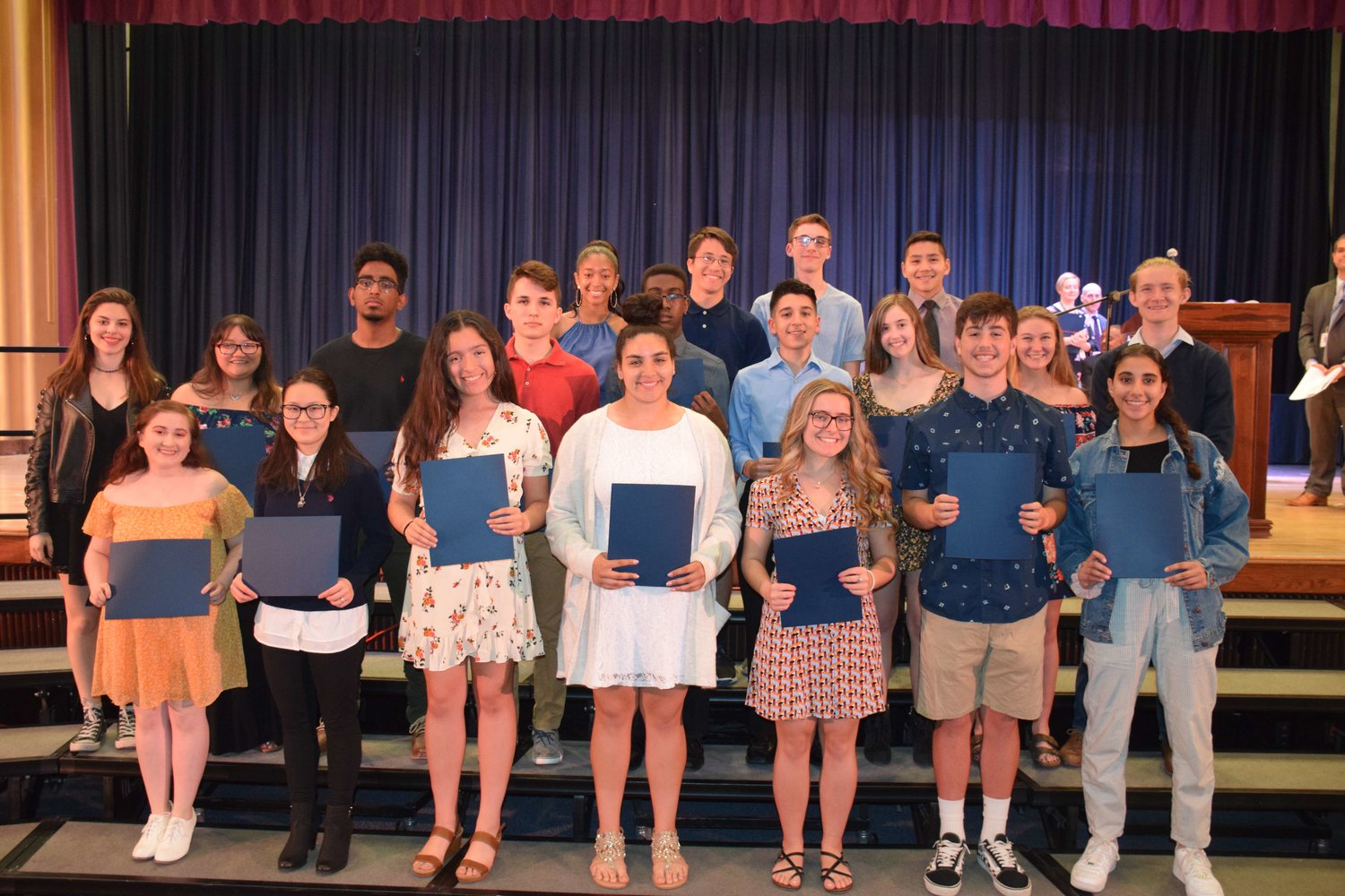 Students from W.T. Clarke High School were recognized for music excellence during the East Meadow School District's Music and Art Award ceremony on May 7.