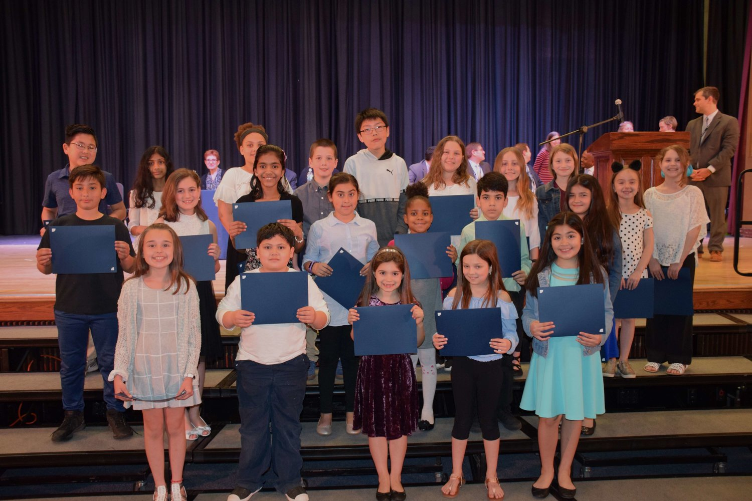 Students from East Meadow School District's elementary schools were celebrated during the District Music and Art Award show on May 7.
