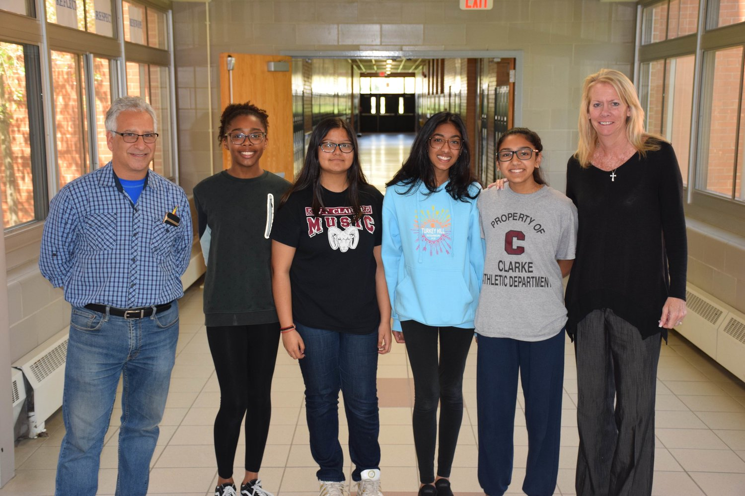 Students represented W.T. Clarke Middle School and earned honors for their projects at the Long Island History Day contest.