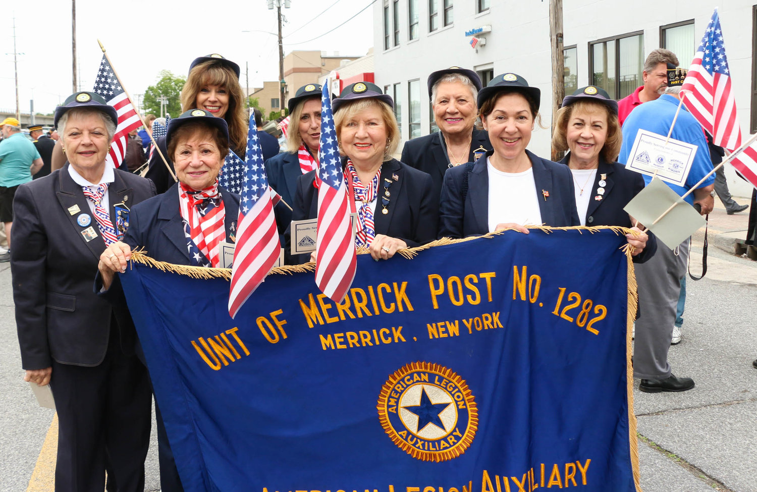 American Legion Auxiliary, Unit of Merrick Post No. 1282 prepping for the Memorial Day Parade last year.