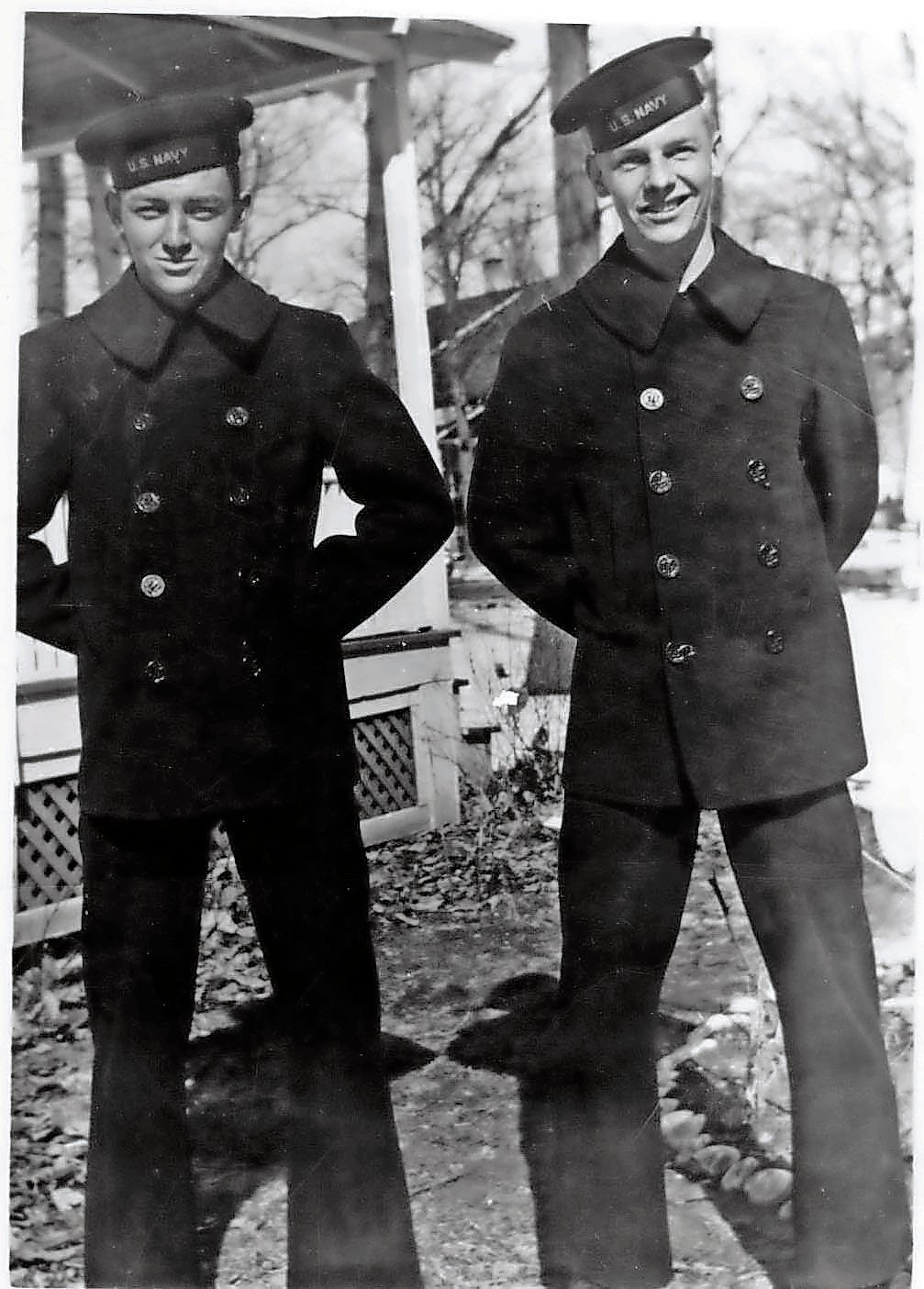 Jack Tilford, left, and his friend Albert Taylor, who lived in Bayville. They joined the Navy together.