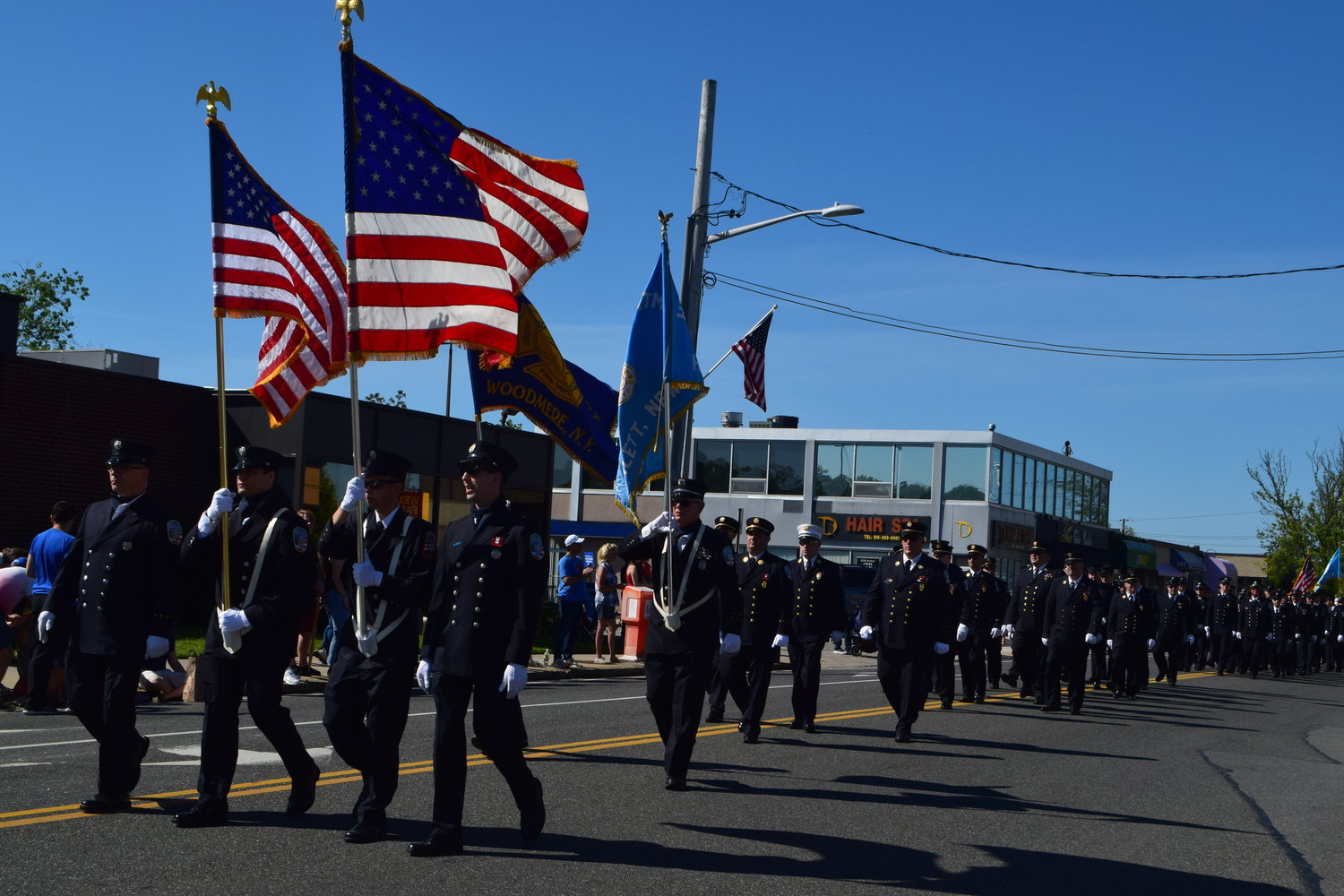 Hewlett and Woodmere firefighters took part in the parade.
