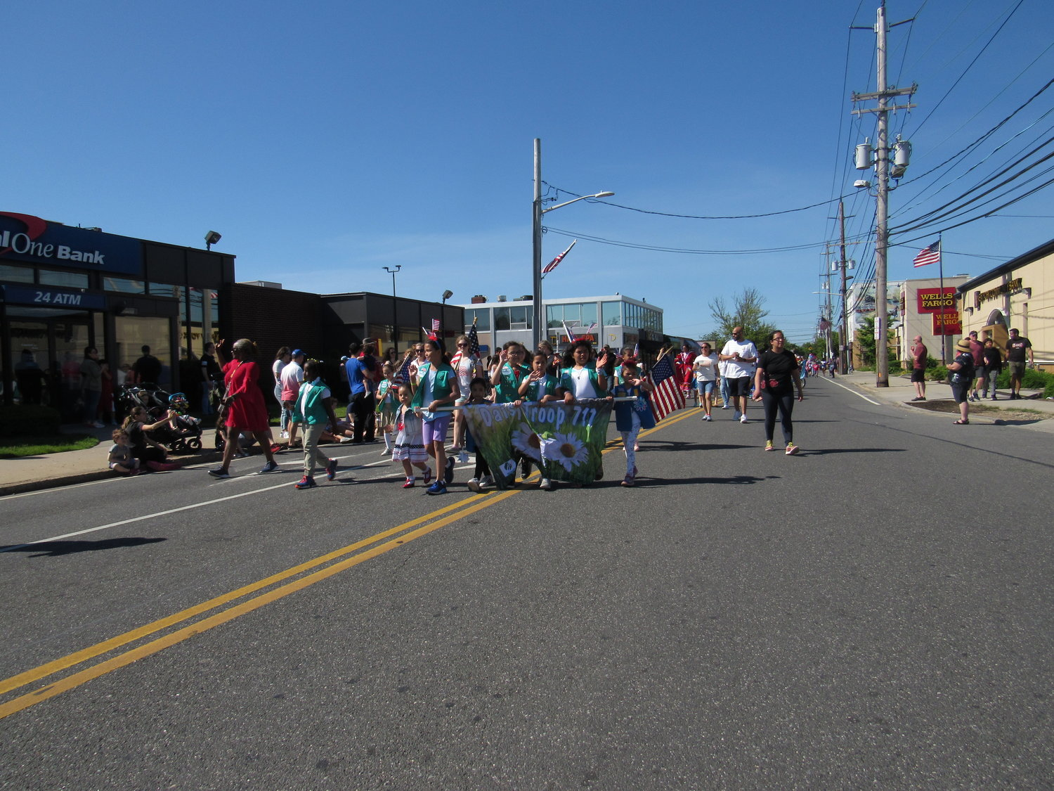 Girl Scout Troop 717 showed their pride in the Memorial Day Parade.