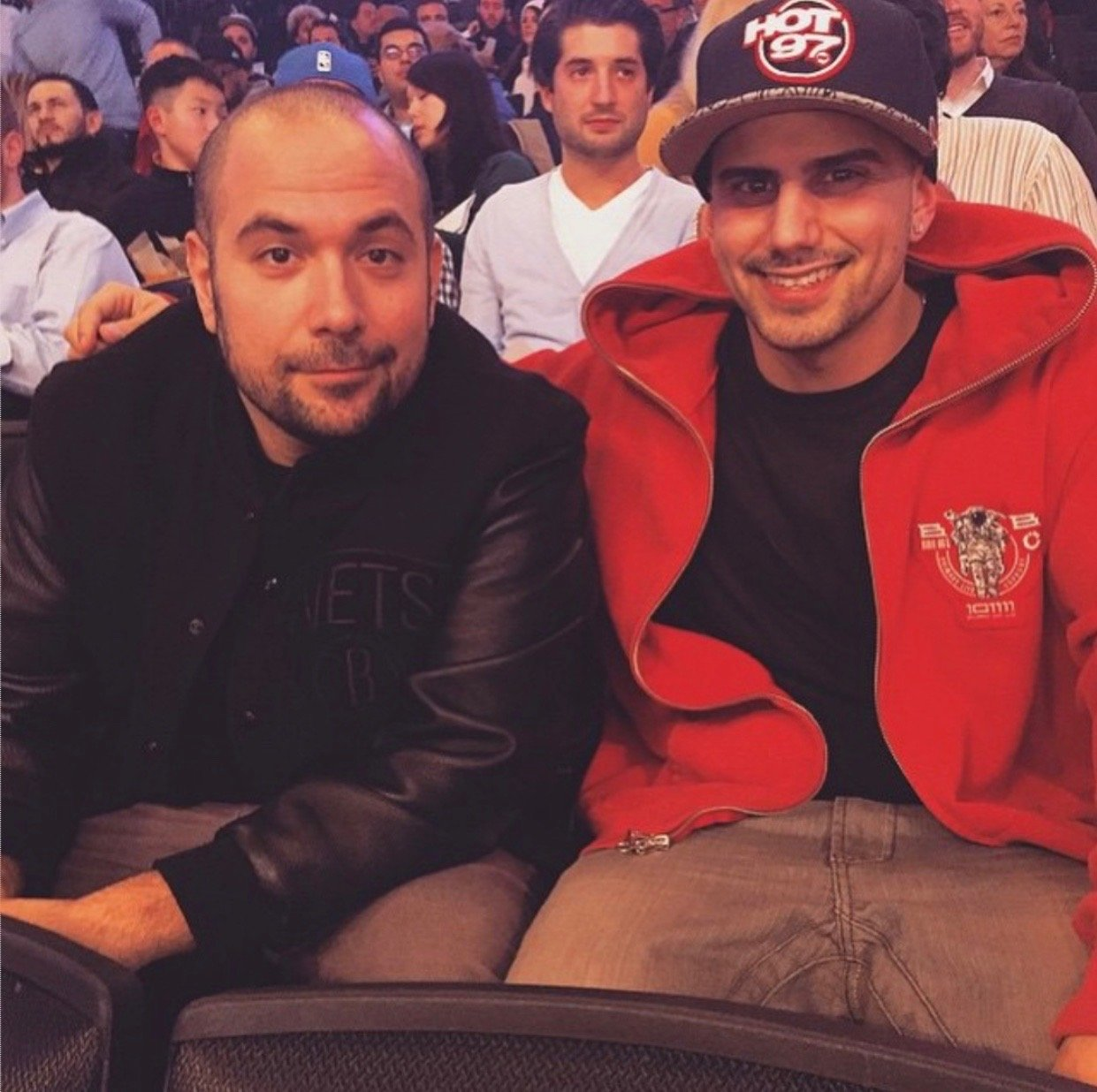 "Radio personality Peter Rosenberg, left, gave West Hempstead native ""Hip Hop Mike"" Turkowitz his start."