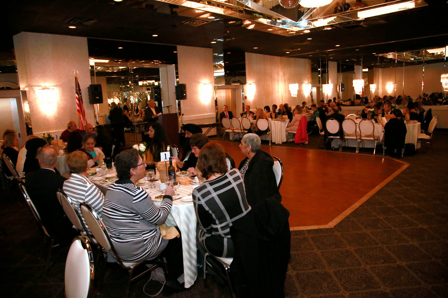 Numerous events were held at Pompei. Above, the West Hempstead Community Scholarship Fund's annual dinner in 2019.