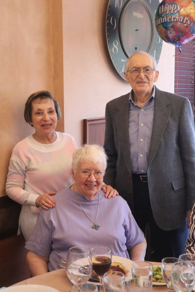 Wisla, left, with past BMRTA presidents Christy and Gerald Brynien.