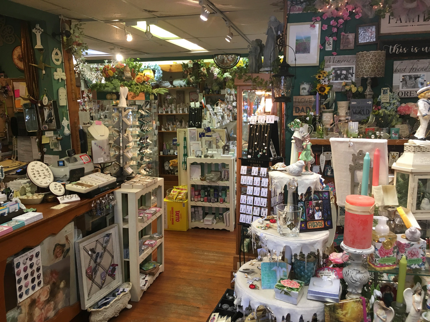 The shop's ground floor shows some of the treasures the owners have brought from Ireland.