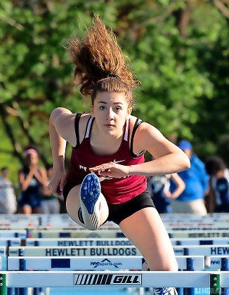 Talented hurdler Christie Annunziato was one of six representatives for Glen Cove at the Nassau Class AA championship meet held May 23 at Roosevelt High School.