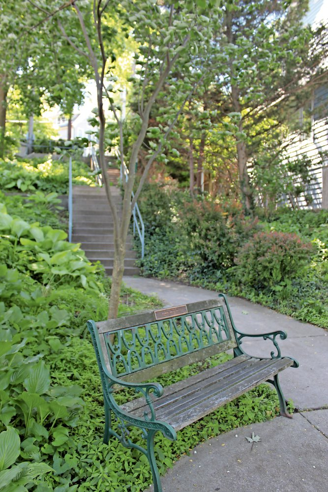 "Guerci describes the Bathway Steps off of Prospect Avenue as a ""walking park."""