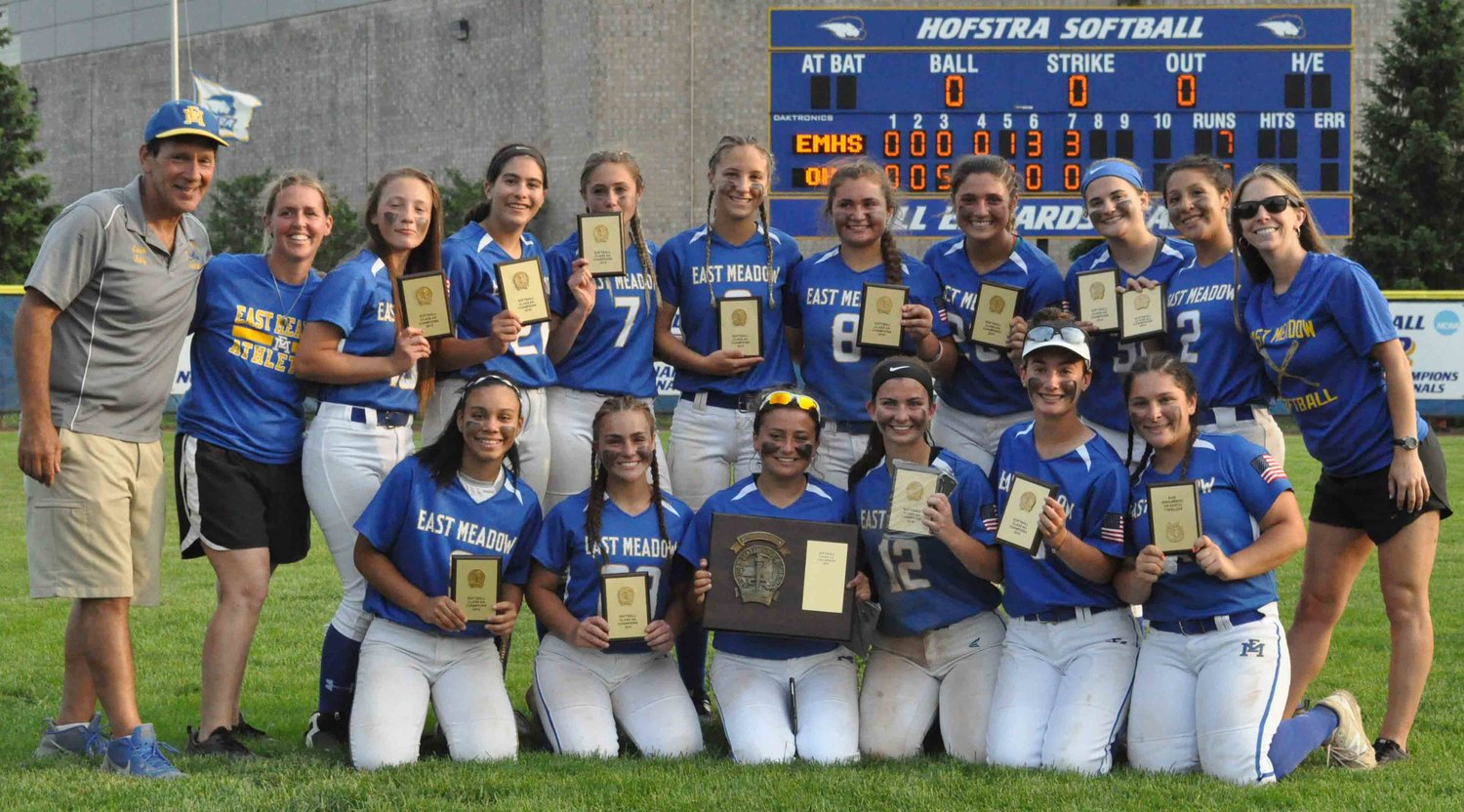 The Lady Jets made it three straight Nassau Class AA softball titles with a come-from-behind 7-5 win over Oceanside last Saturday.