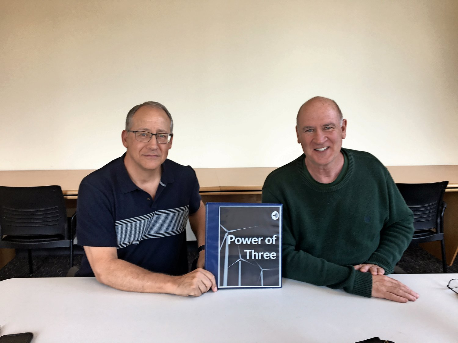 "Tom Capone, left, and Richie Woods' podcast, ""Power of Three,"" features guests who make positive change in the world. It is available on most popular podcasting apps, including Apple Podcasts, Spotify and Anchor."