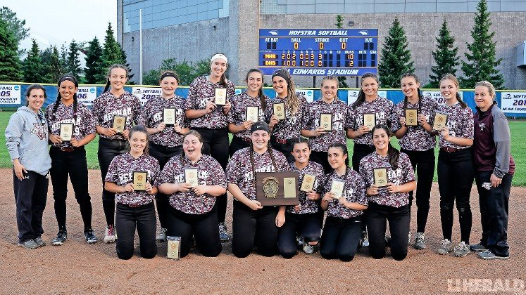 The Lady Pirates celebrated their first-ever Nassau County softball championship last Friday night after defeating Division, 10-2, to complete a sweep of the Class A finals at Hofstra.