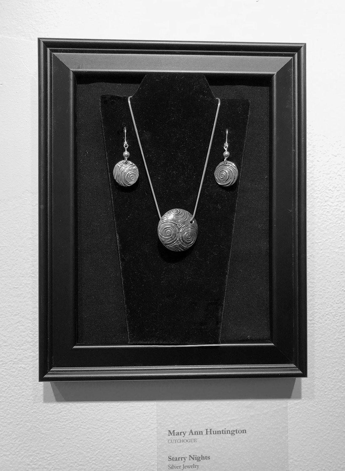 "Artist Mary Anne Huntington's ""Starry Night,"" which looks like silver jewelry but is made out of organic clay, was inspired by Vincent Van Gogh's painting of the same name."