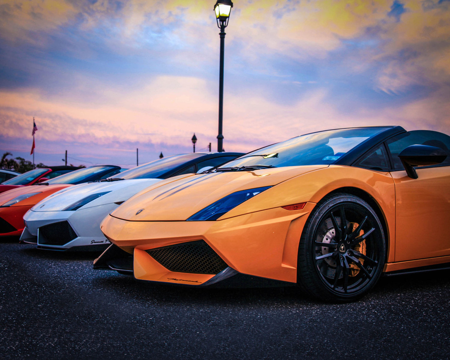 Kris King, a member of the Malverne Chamber of Commerce, photographed a row of Lamborghinis at the Long Island Exotic Club Car Show in Freeport in 2017.