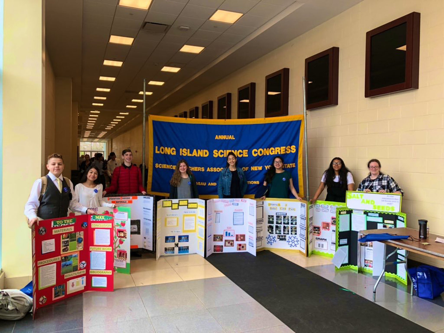 Fourteen West Hempstead students from the middle and high school earned awards for their presentations during this year's Long Island Science Congress on April 9 and 10.