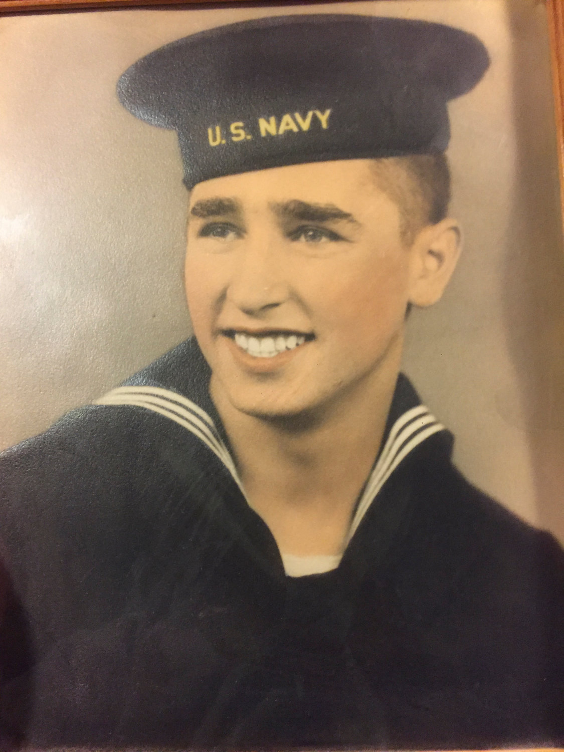 Jimmy Lijoi shortly after coming home from World War II. Lijoi was a seamaster aboard LST 510 during the D-Day invasion.