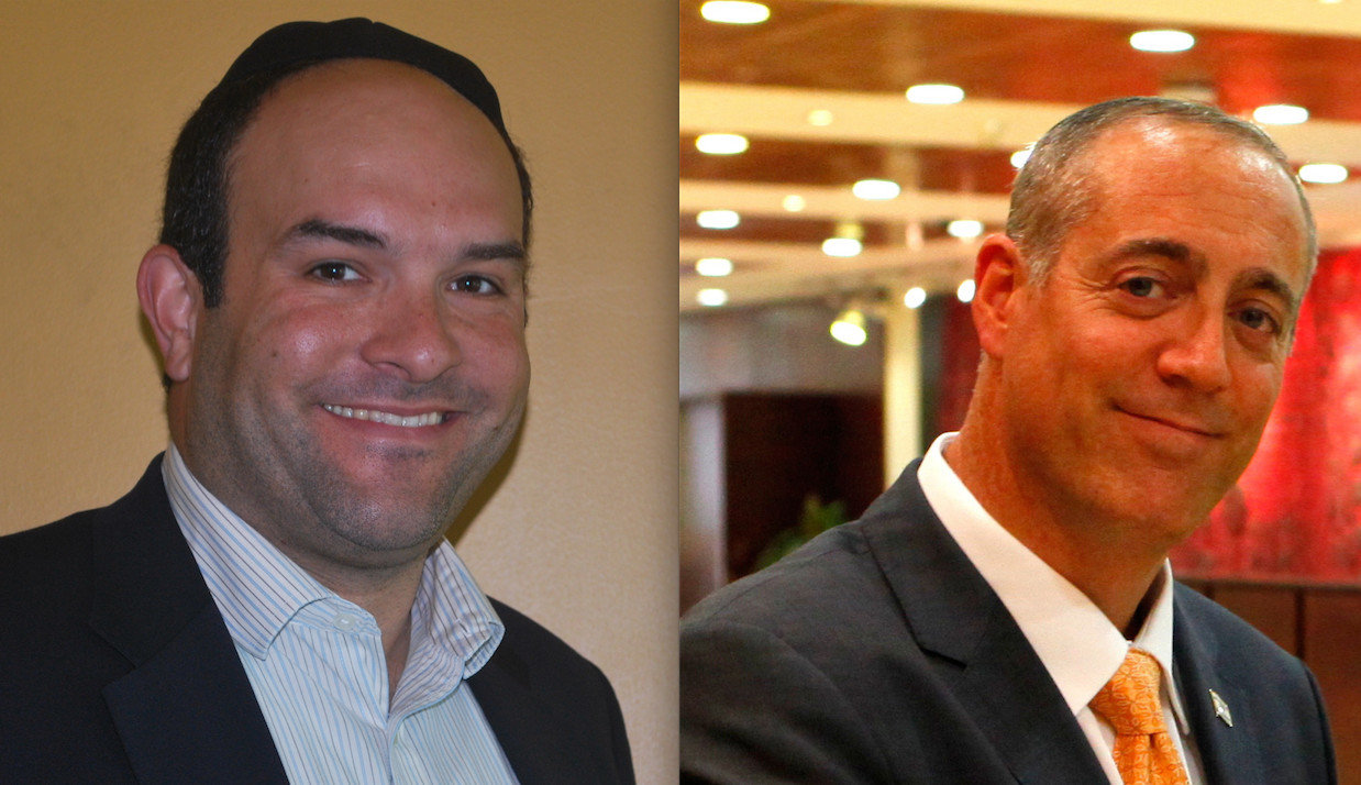 Incumbent Village of Lawrence trustees Michael Fragin, left, and Daniel Goldstein, are running unopposed for re-election.