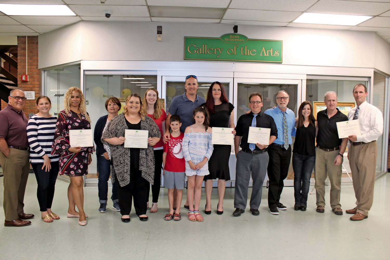 The grant winners at Excellence in Education Foundation, Inc.'s inaugural reception on May 31 spent time with the families who funded the grants.