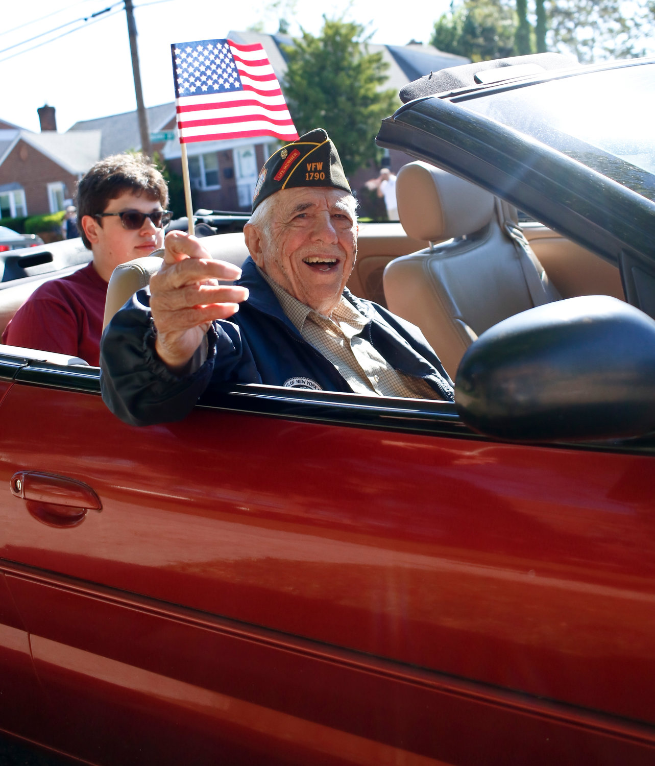Palermo at the 2019 Memorial Day Parade. At 93, he is still active in the neighborhood.