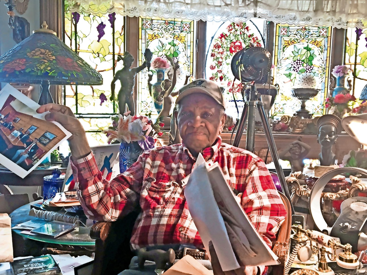 Joe Johnson, a member of the famed Tuskegee Airmen, loves nature, and the interior and exterior of his Glen Cove home reflect that love.