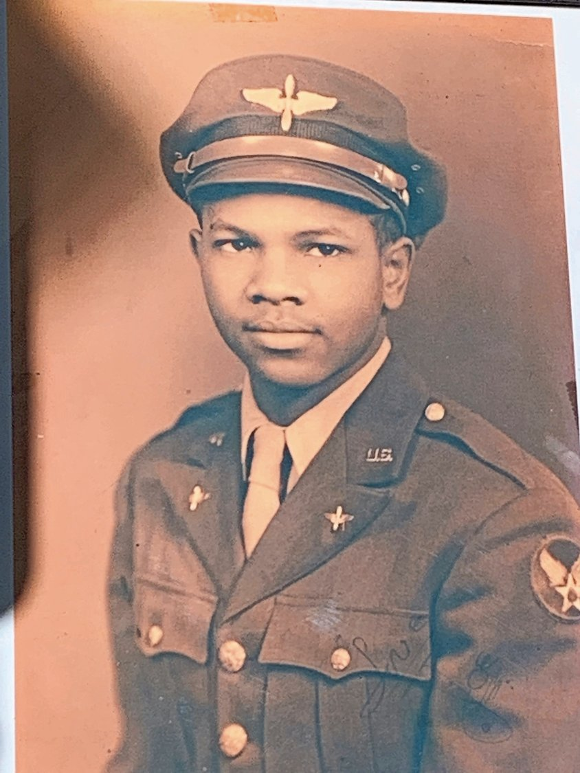 Johnson began training as a Tuskegee Airman in 1943, and after the war he came home to Glen Cove.