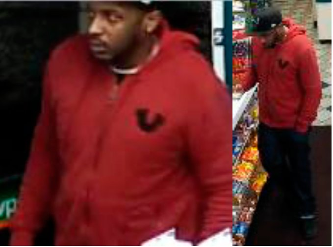 Nassau police are looking for this man in connection of an alleged theft of a wallet at the Mobil gas station in Inwood on Dec. 15.