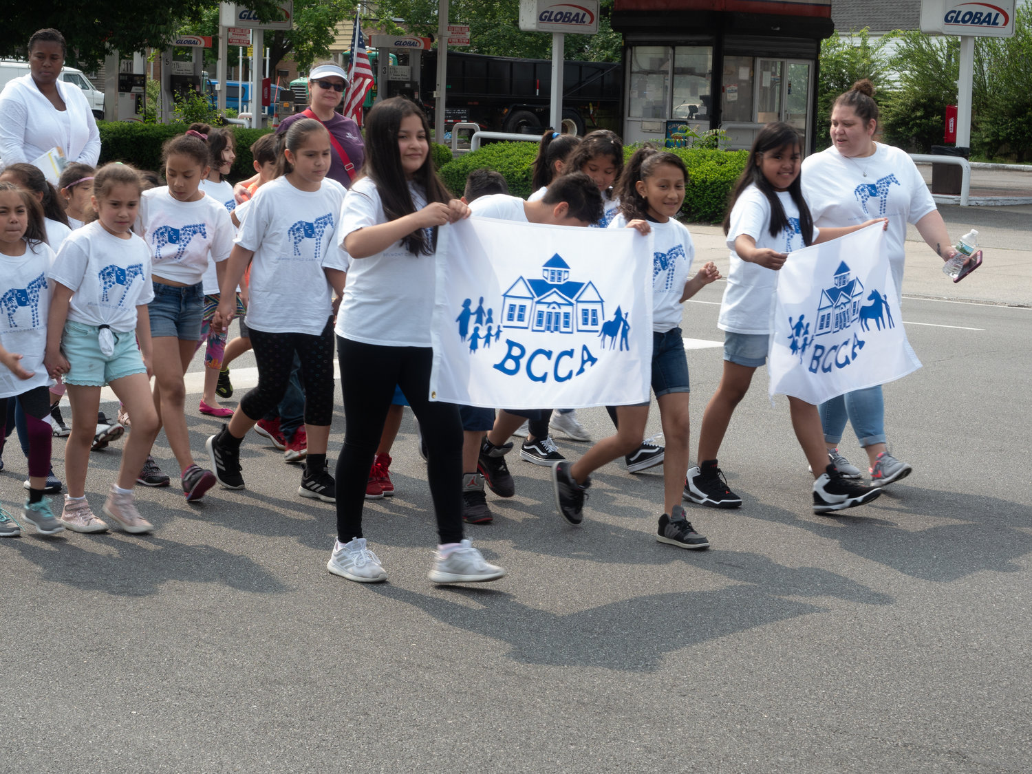 Children from the Belmont Child Care Association walked down Hempstead Turnpike to celebrate the 12th annual Elmont/Belmont Stakes Parade on June 1.