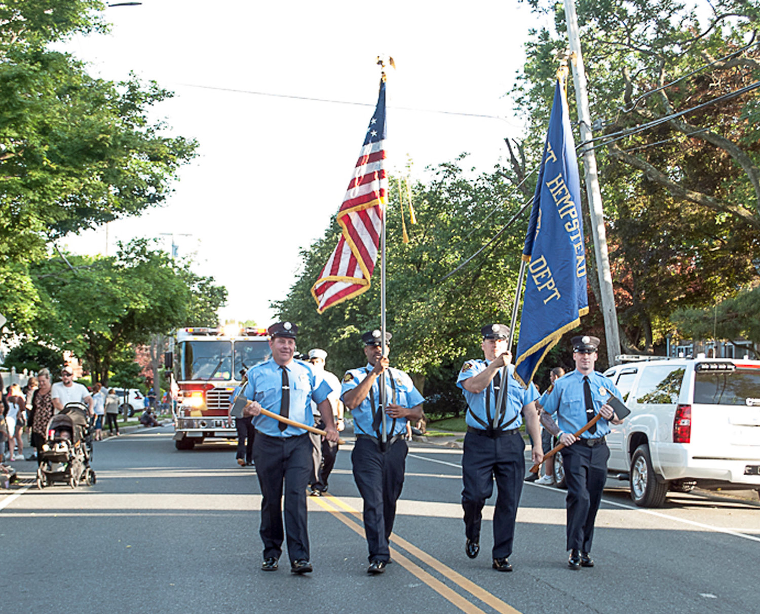 Members of the West Hempstead Fire Department also took part in the festivities.