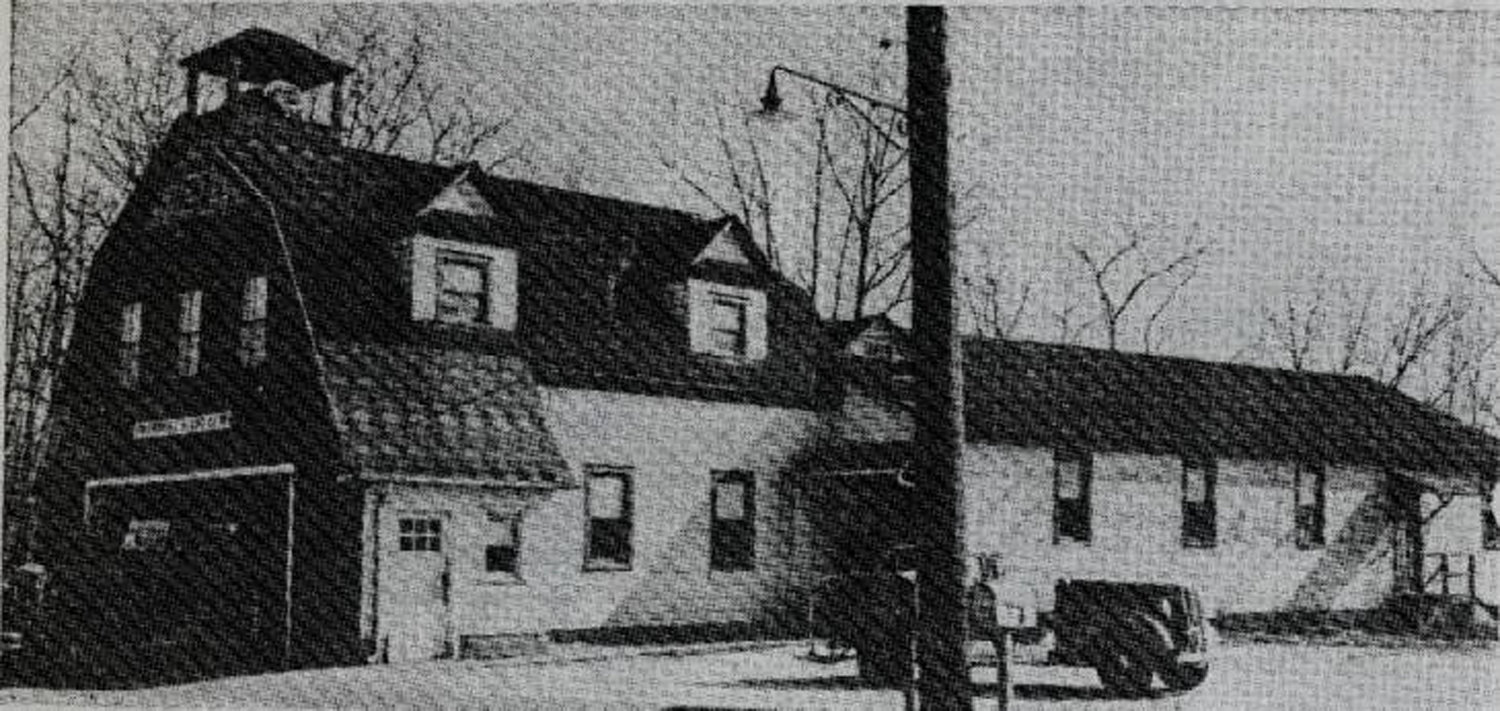 Lakeview's firehouse on Woodfield Road in 1945.