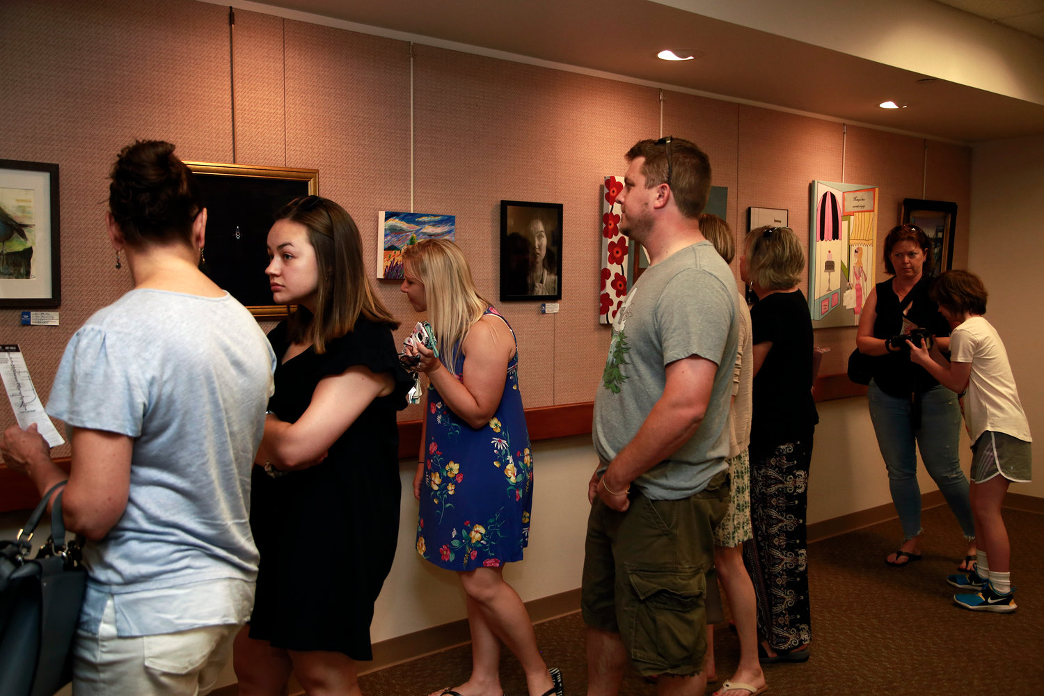 Several residents picked up maps at the library and began their ArtWalk.
