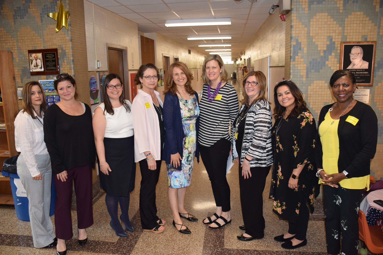 The West Hempstead School District welcomed Molloy College professors Dr. Andrea Honigsfeld and Dr. Maria Dove, as well as educators from North Carolina's Wake County Public School System on May 23.