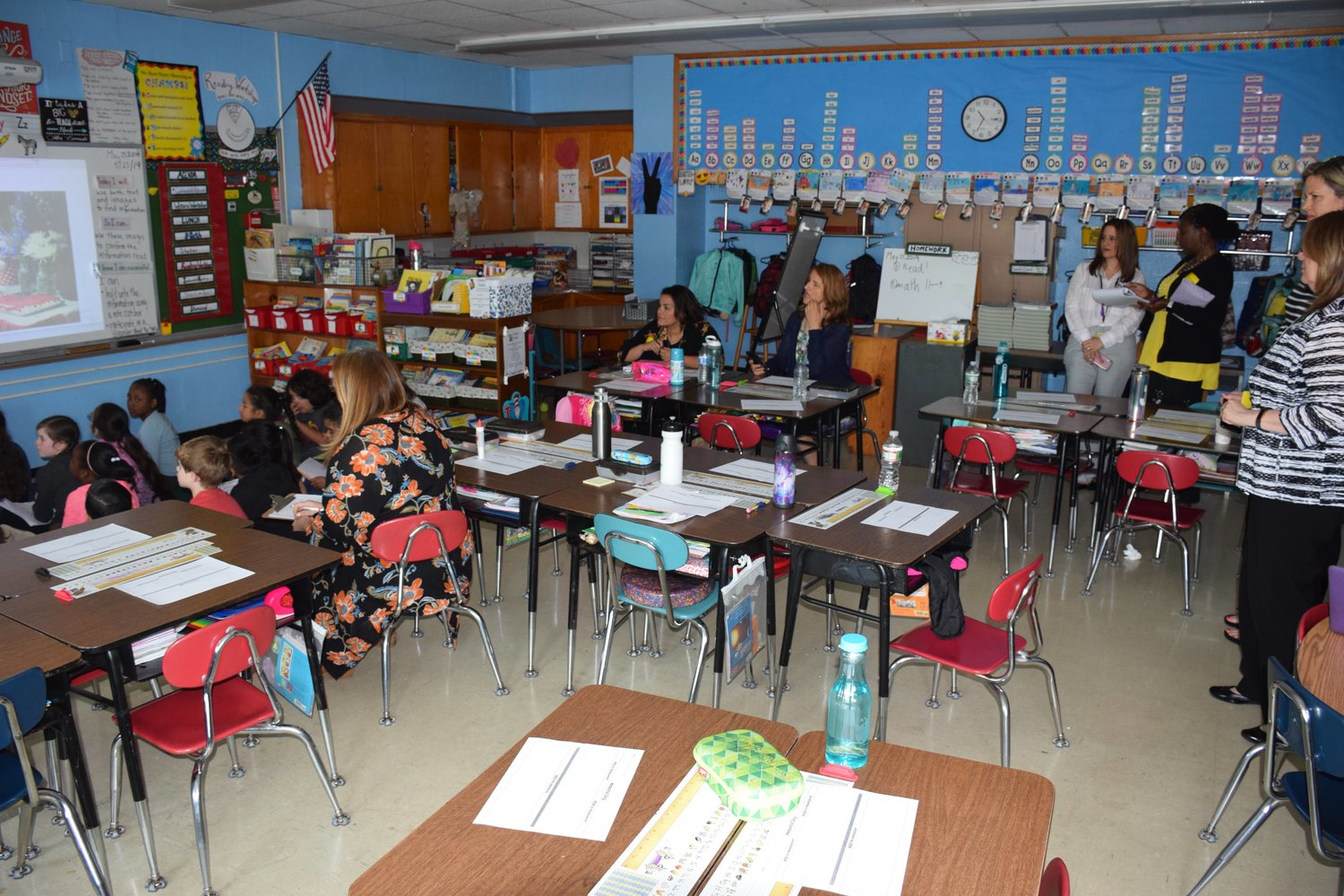 Educators from North Carolina's Wake County Schools observed a co-teaching second grade class at Cornwell Avenue School.