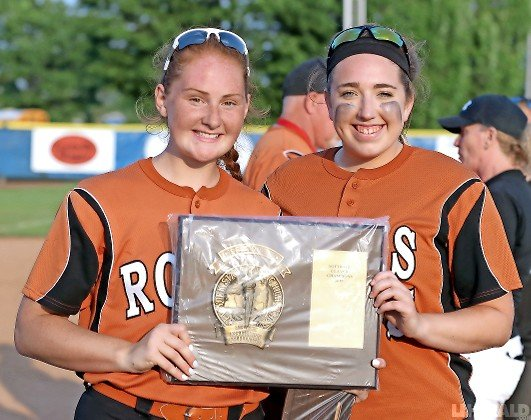 Senior captains Emily Chelius, left, and Siobhan Perini helped lead East Rockaway to a fourth straight Long Island crown this spring.