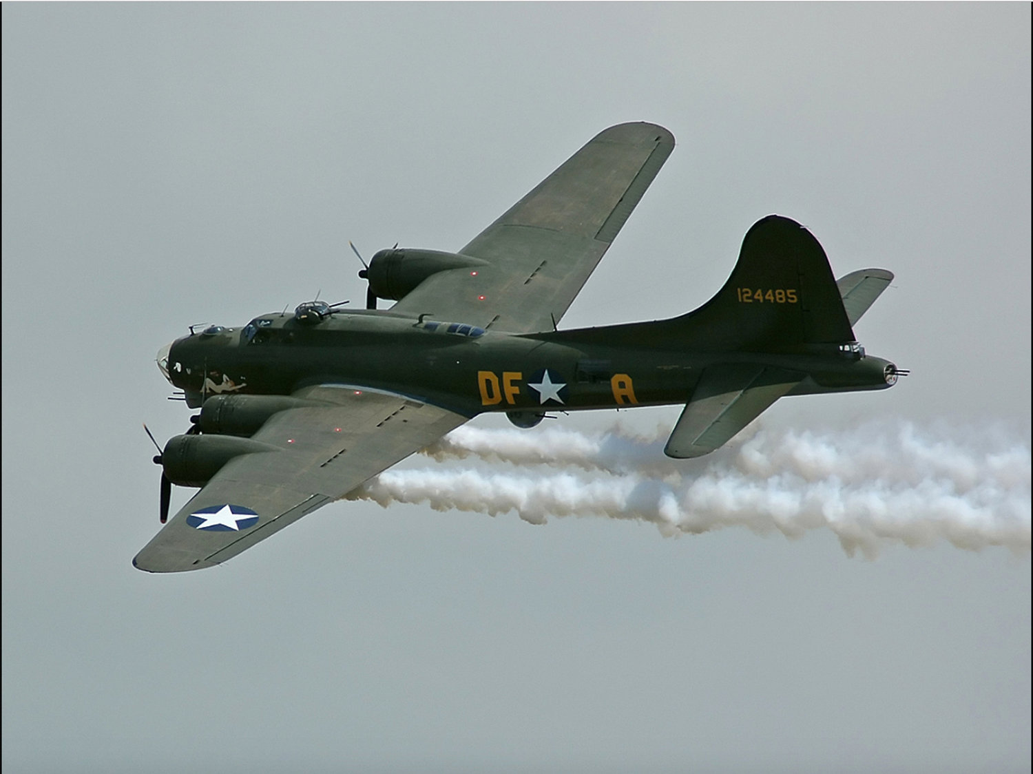 A B-17 Flying Fortress, like the one in which John Mctigue was shot down.