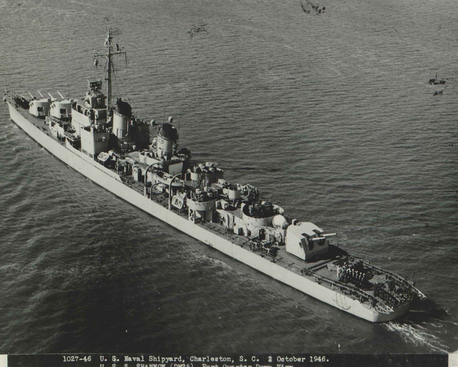 A ship Tom Mctigue served on, the U.S.S Shannon, in 1946.