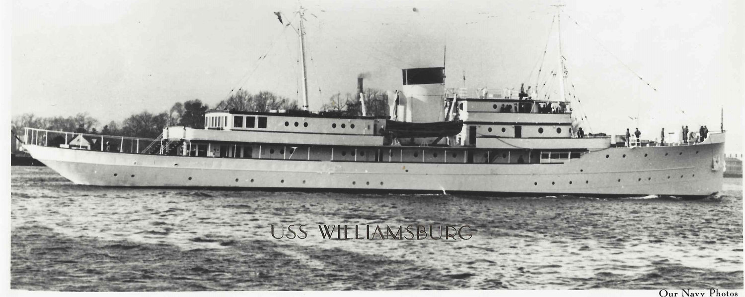 President Harry Truman's ship, the U.S.S. Williamsburg, on which Tom Mctigue served.