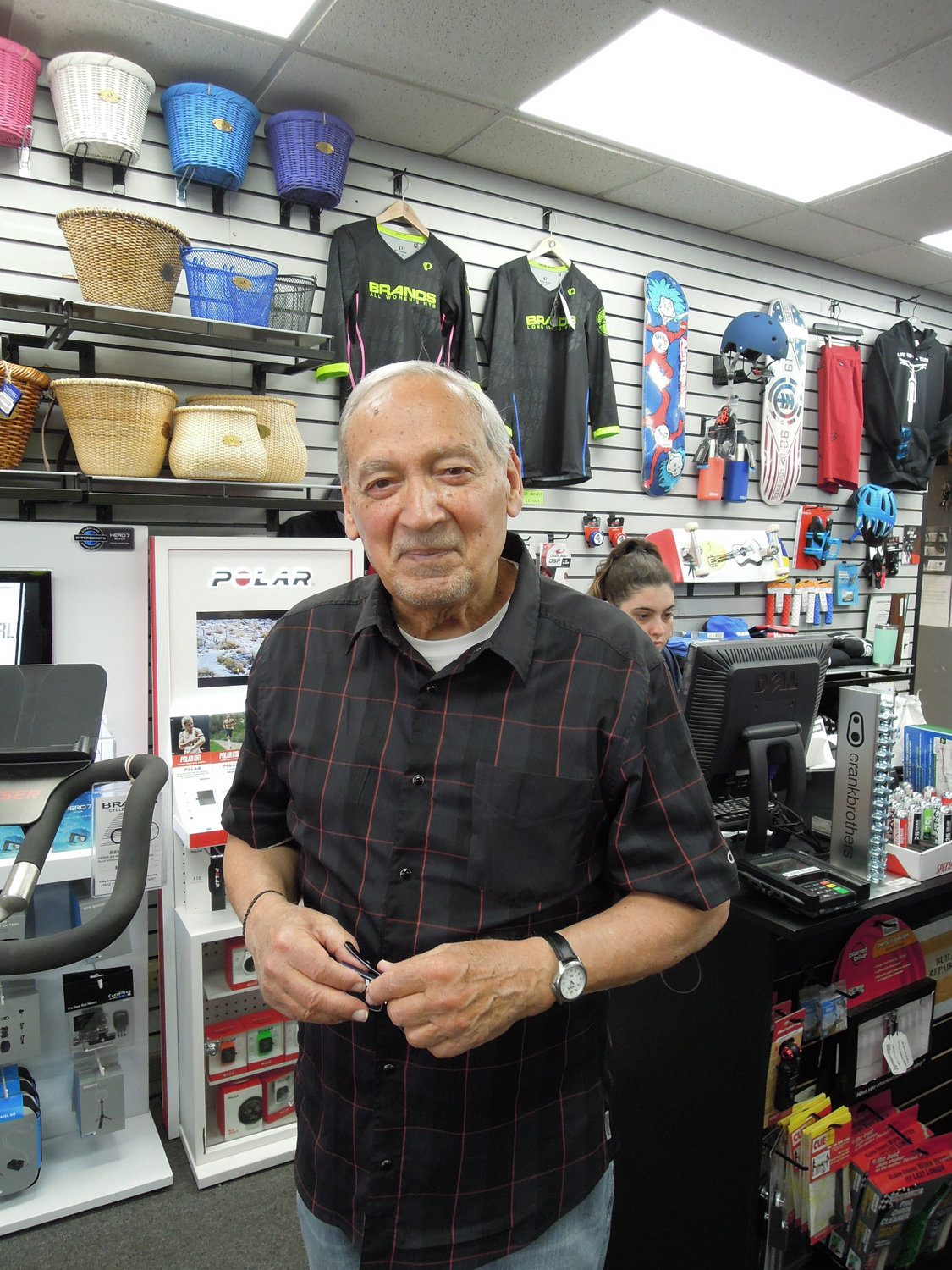 Brands manager John Cerami has been at the Wantagh cyclery for 50 years.