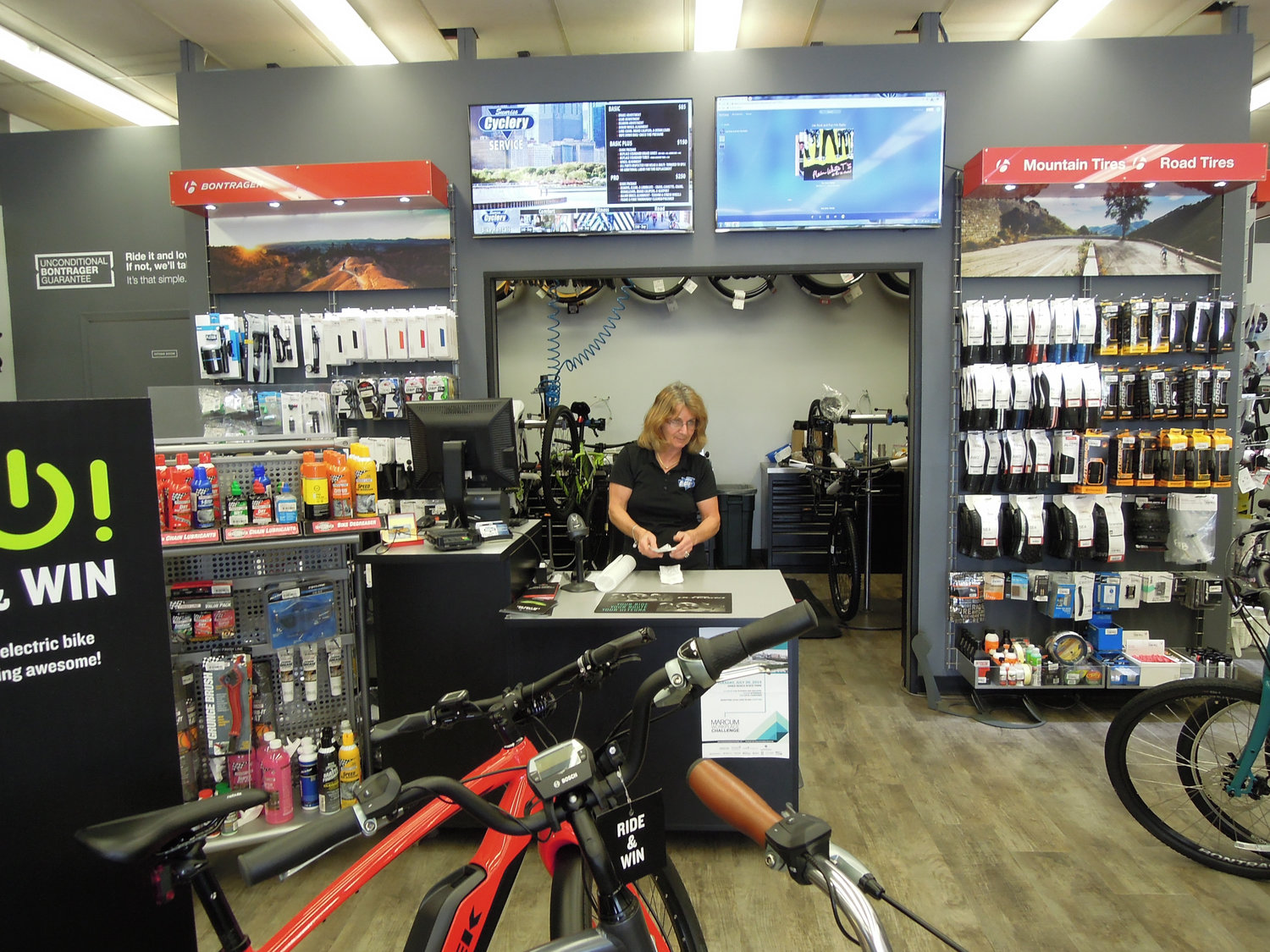 Cathy Totino, the owner and manager of Sunrise Cyclery in Massapequa, emphasized the need for rider safety.