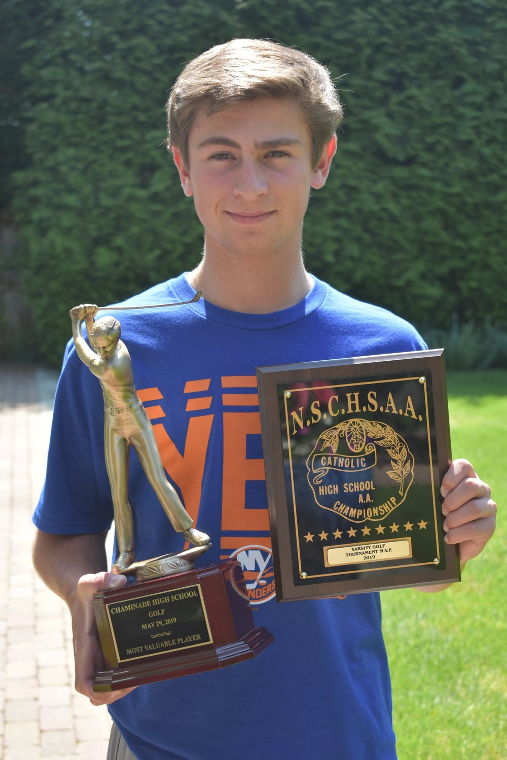 Declan Kilduff, of Rockville Centre, won the CHSAA boys golf title last month, besting fellow village resident Bryan Ruland in a playoff.