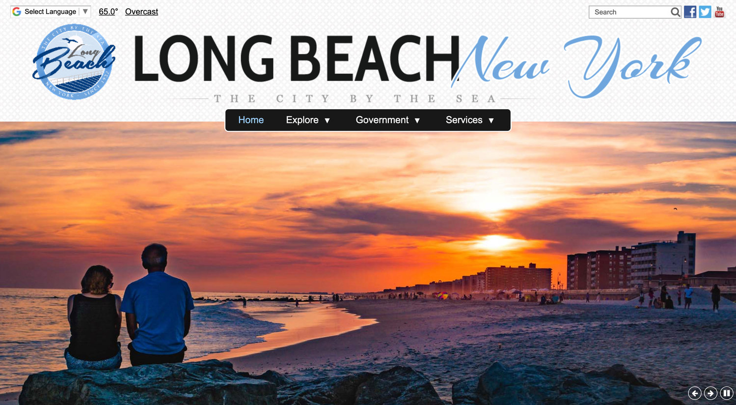 The city launched its new website on May 20.